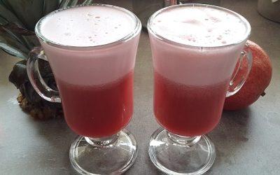 Granatowo – ananasowe smoothie