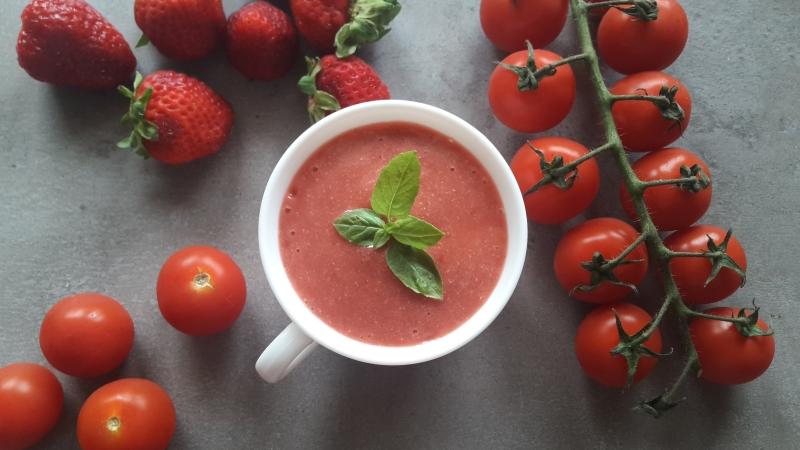 Pomidorowo – truskawkowy mus
